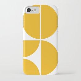 Mid Century Modern Yellow Square iPhone Case