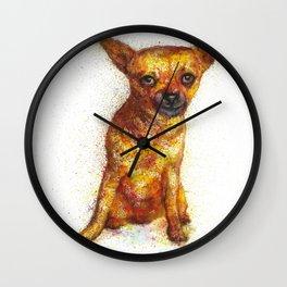 Dog watercolor print Wall Clock