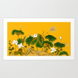 Lotus world Art Print