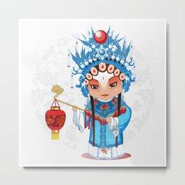Beijing Opera Character GongNv Metal Print