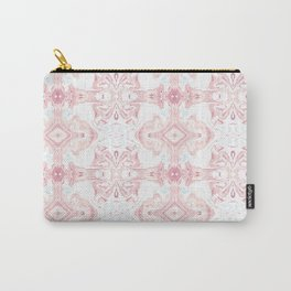 Pink Marble Pattern Carry-All Pouch