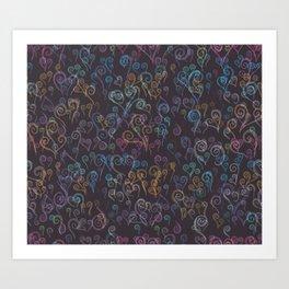 Pixelated Spirals Art Print