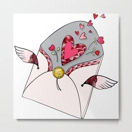 Letter for Love Metal Print