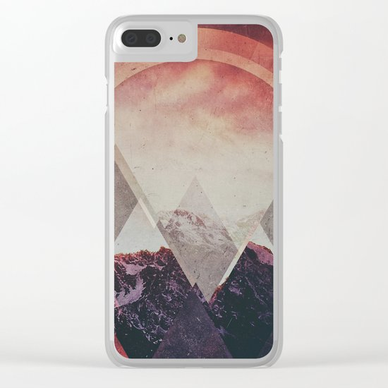 Fractions B14 Clear iPhone Case