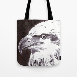 Eagle - Animal Series in Ink Tote Bag