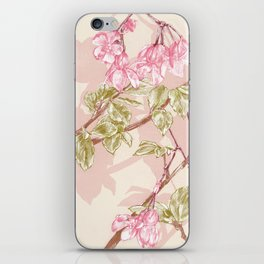 Flower Sketch iPhone Skin