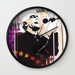 Michael Stipe pop style art Wall Clock