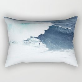 Wave Surfer Indigo Rectangular Pillow