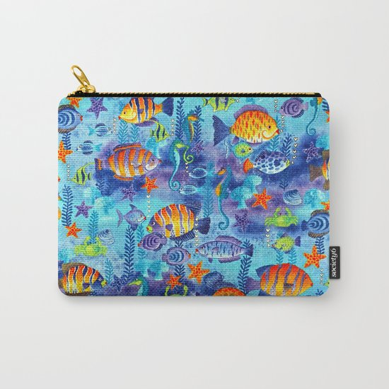 Underwater cartoon cute pattern Carry-All Pouch