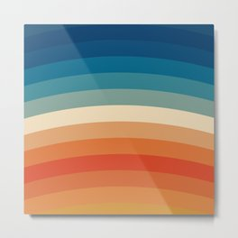 Summer Color Lines Metal Print