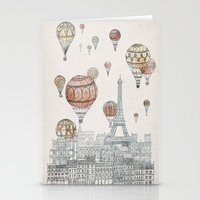 paris Stationery Cards featuring Voyages Over Paris by David Fleck