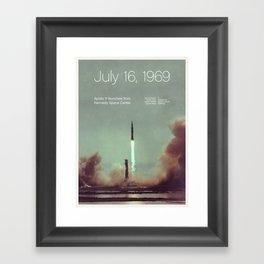 Creative History – July 16, 1969 Framed Art Print