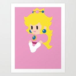 Princess Peach - Minimalist  Art Print