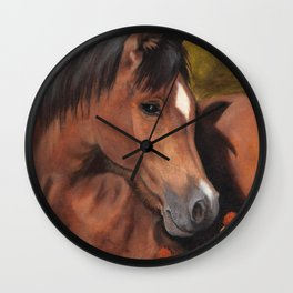 Little Brown Filly Wall Clock
