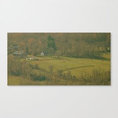 Horse Farm (View from the Mountain Top) Canvas Print