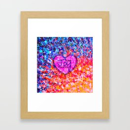 CHOOSE JOY Christian Art Abstract Painting Typography Happy Colorful Splash Heart Proverbs Scripture Framed Art Print