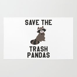 Save The Trash Pandas Funny Rug