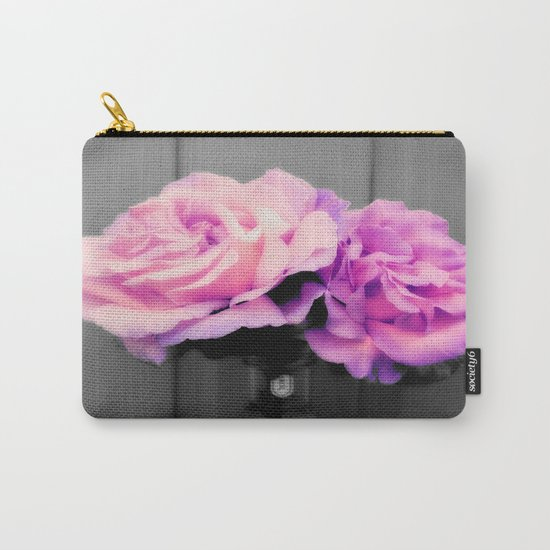 flowERS Pink Purple Pop of Color Carry-All Pouch