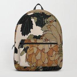 Hokusai, great flowers Backpack