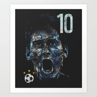 messi Art Prints featuring Messi by dan elijah g. fajardo