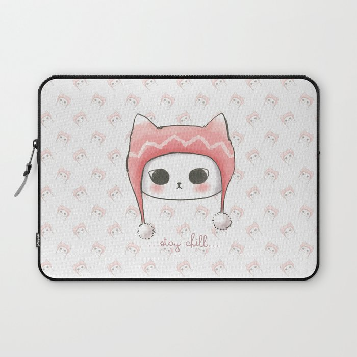 Stay Chill Cat(background Wallpaper) Laptop Sleeve