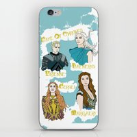 daenerys iPhone & iPod Skins featuring Game Of Thrones  by JessicaJaneIllustration