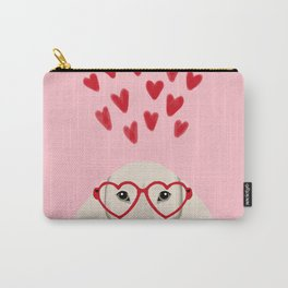 Dachshund valentines day love heart gifts dog breed doxie must haves Carry-All Pouch