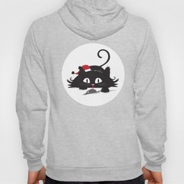 Playful cat Hoody