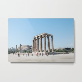The temples of Athens Metal Print
