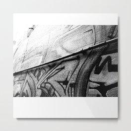 Grey Graffiti Metal Print