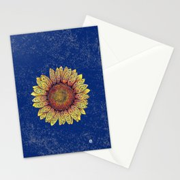 Swirly Sunflower Stationery Cards