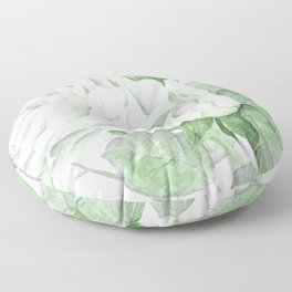 Bouquet Of Pastel Green Roses Floor Pillow