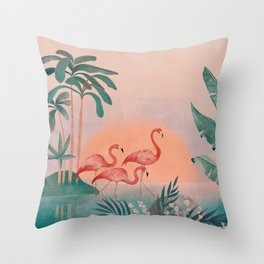 Secret oasis III Throw Pillow