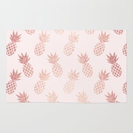 Rose Gold Pineapple Pattern Rug