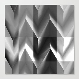 Paper Sculpture 3D Black and White Canvas Print