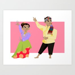 Philippines: Pangalay Dancers Art Print
