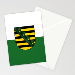 flag of Sachsen (historic state) Stationery Cards