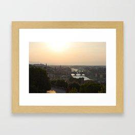 firenze - summer Framed Art Print