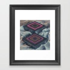 glow steps Framed Art Print