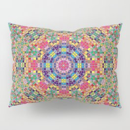 Stained Glass Mandala Pillow Sham