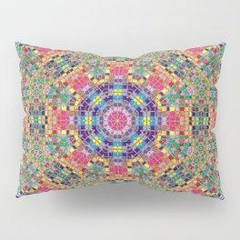 Stained Glass Mandala Pillow Sham