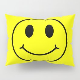 Smiley Happy in yellow color on a yellow background - EFS174 Pillow Sham