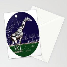 Girafe à la nuit Stationery Cards
