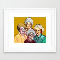 golden girls Framed Art Prints featuring Golden Girls by Minerva Torres-Guzman