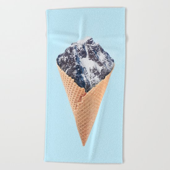 ICE CREAM MOUNTAIN Beach Towel