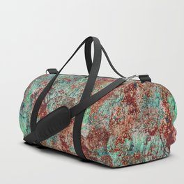 Abstract Rust on Turquoise Painting Duffle Bag