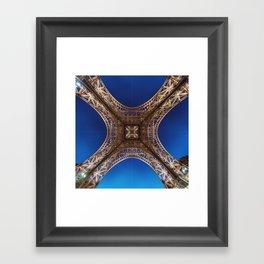 Eiffel Tower From Below Framed Art Print