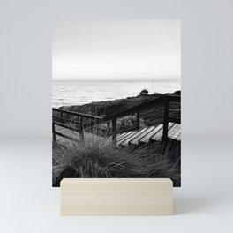 Staircase to the Ocean - Black and White Mini Art Print