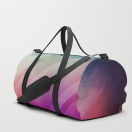 Vivid - Colorful Geometric Mountains Texture Pattern Duffle Bag