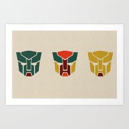 Tranformers in Colors Art Print
